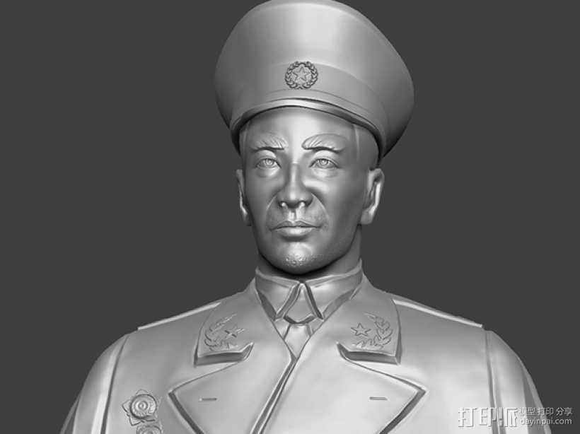 十大元帅 之 林彪 半身雕塑 3D打印模型渲染图