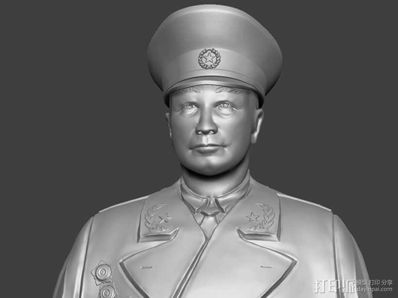 十大元帅 之 聂荣臻 半身雕塑 3D打印模型渲染图
