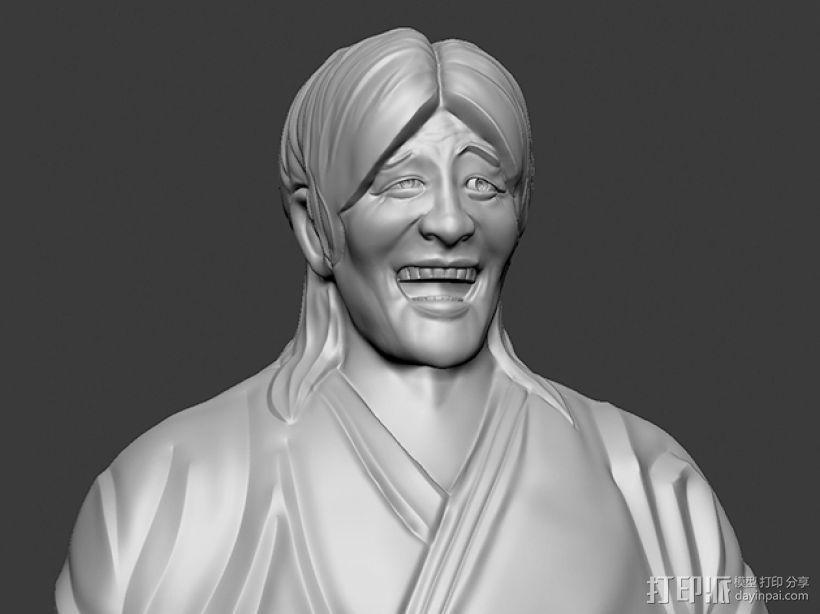 表情三巨头 表情帝 之 金馆长 崔成国 3D打印模型渲染图