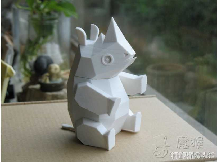Rhinoceros 3D打印模型渲染图