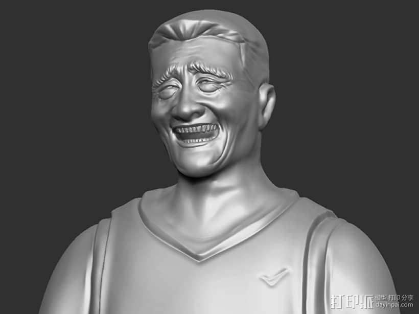 表情三巨头 表情帝 之 姚明 3D打印模型渲染图