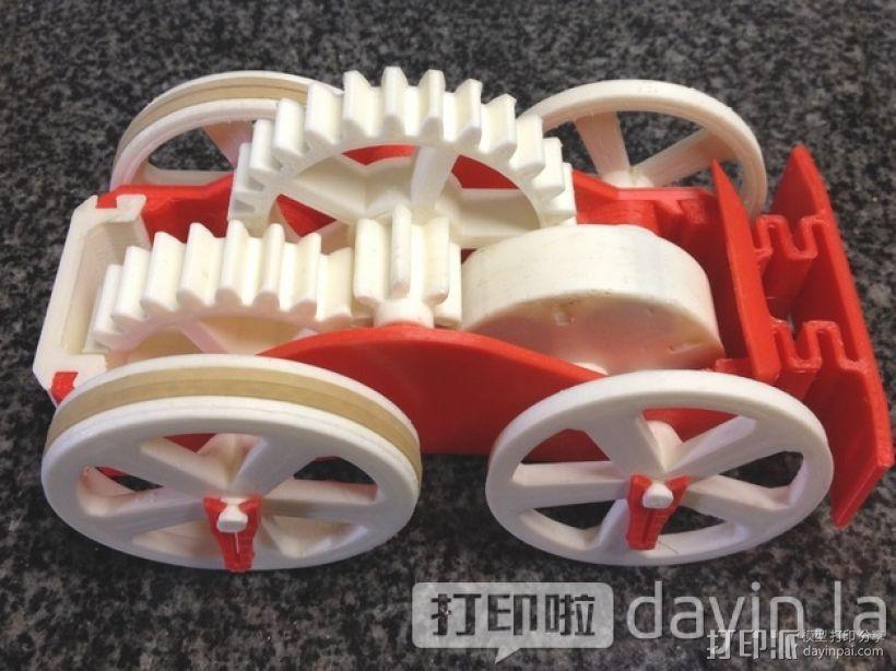 齿轮传动 3D打印模型渲染图