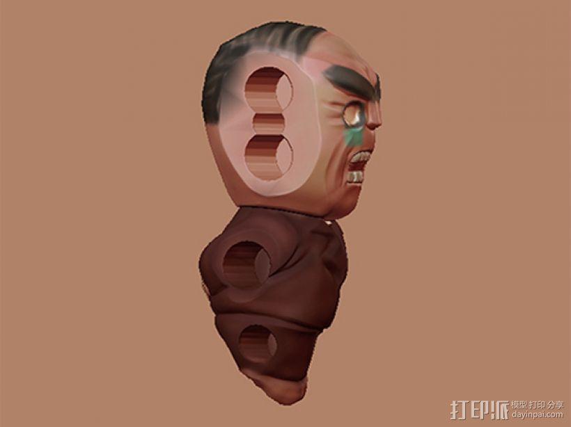 绑架老板笔筒 3D打印模型渲染图