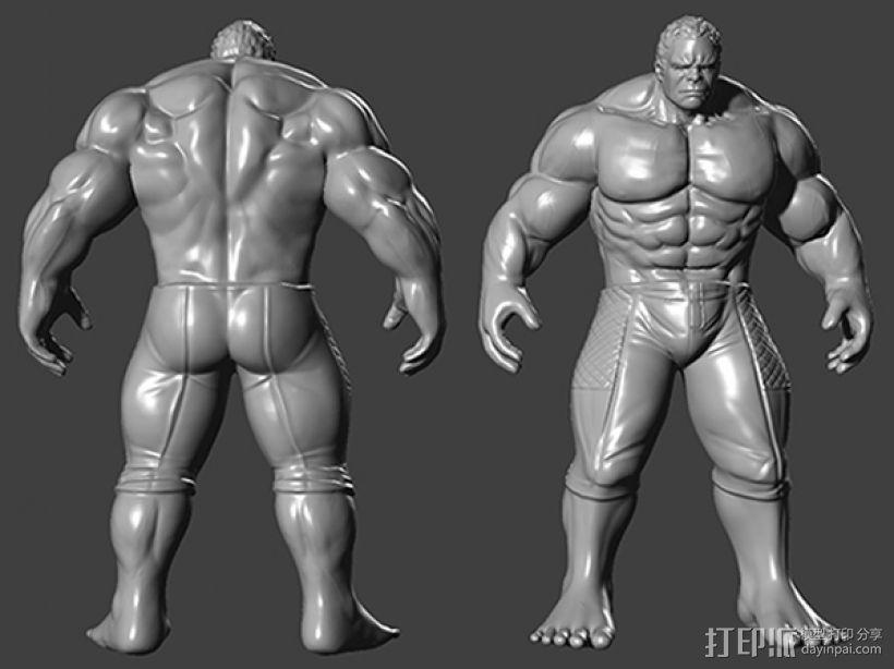 复仇者联盟 绿巨人浩克 Hulk  3D打印模型渲染图