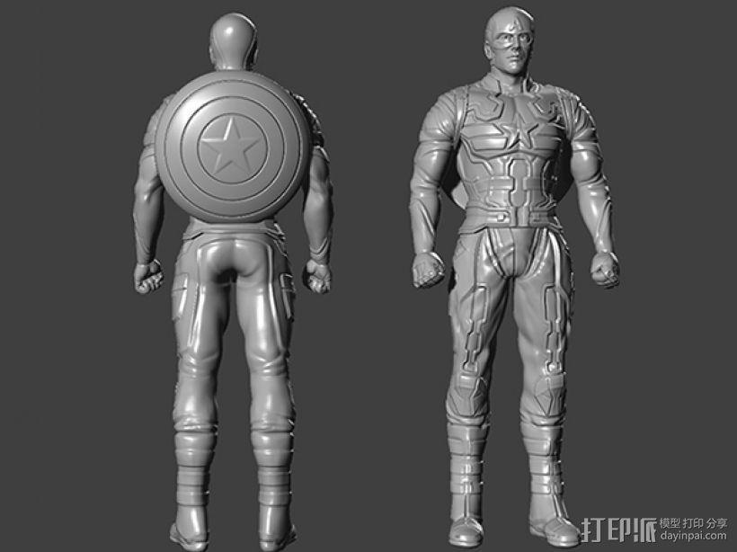 复仇者联盟 美国队长 罗杰斯  3D打印模型渲染图