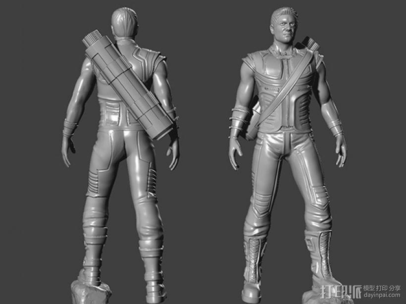 复仇者联盟 鹰眼 Hawkeye  3D打印模型渲染图