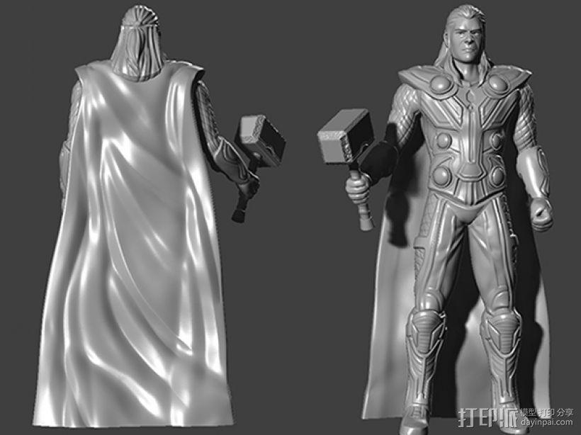 复仇者联盟 雷神 托尔 3D打印模型渲染图