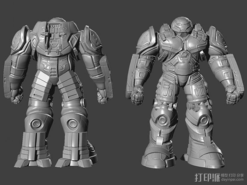 复仇者联盟 钢铁侠 反浩克机甲 3D打印模型渲染图