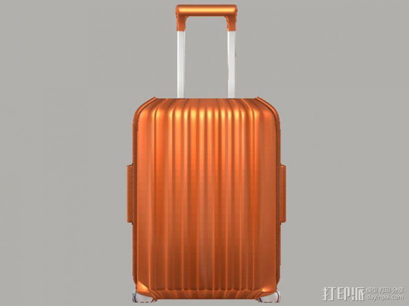 行李箱笔筒 3D打印模型渲染图