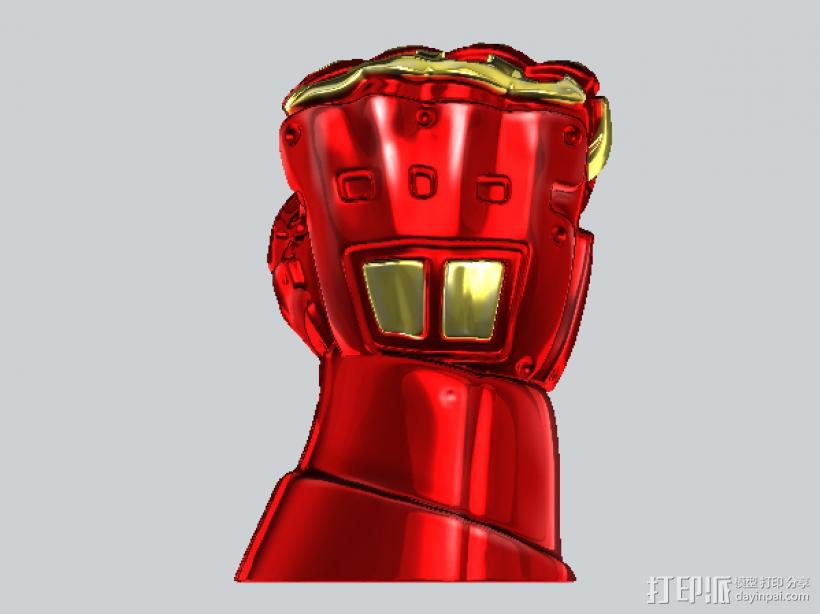 机甲手笔筒 3D打印模型渲染图