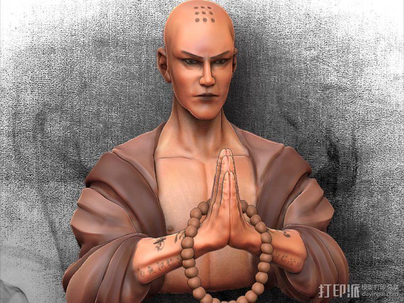 黑暗西游记系列之唐玄奘 3D打印模型渲染图