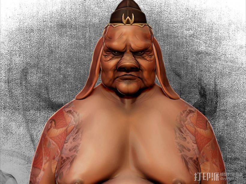 黑暗西游记系列之猪刚鬣 3D打印模型渲染图