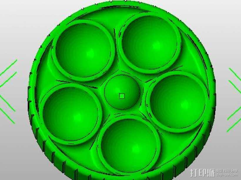 12846LCD 圆孔旋扭 3D打印模型渲染图