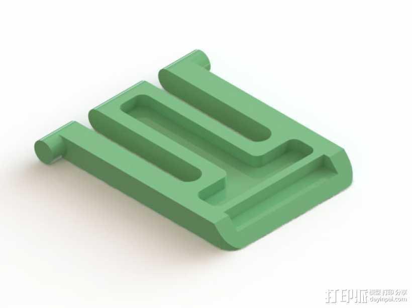 罗技K620 键盘腿 3D打印模型渲染图