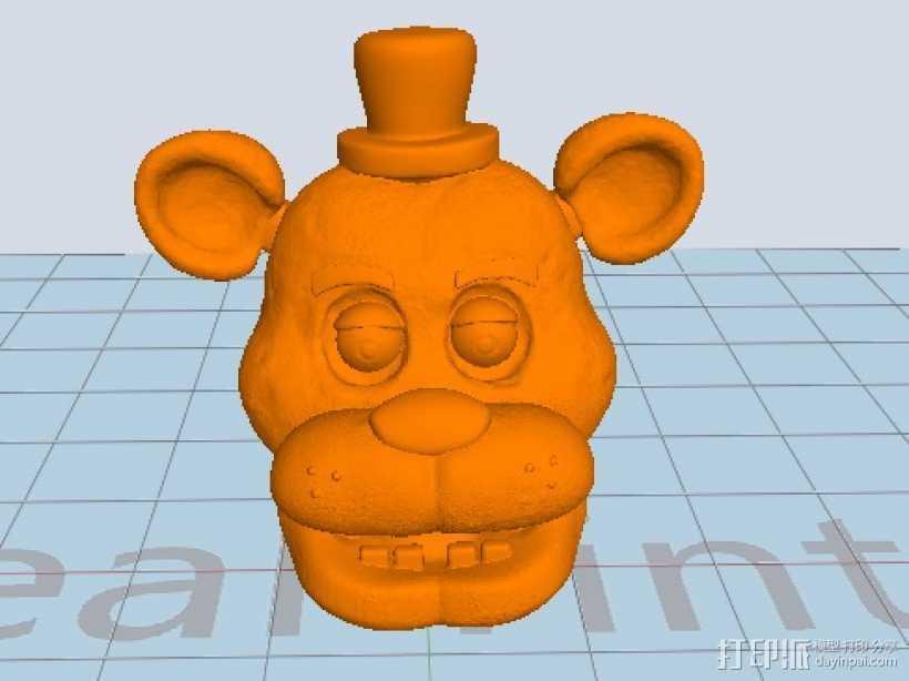 呆熊 3D打印模型渲染图