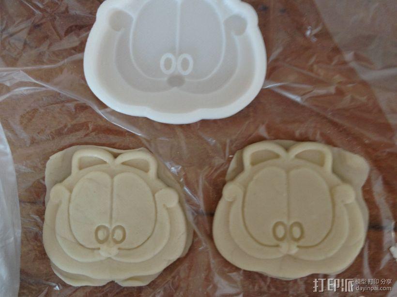 加菲猫饼干模具 3D打印模型渲染图