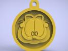 3d打印加菲猫挂件
