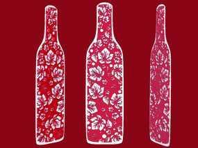 花纹酒瓶书签