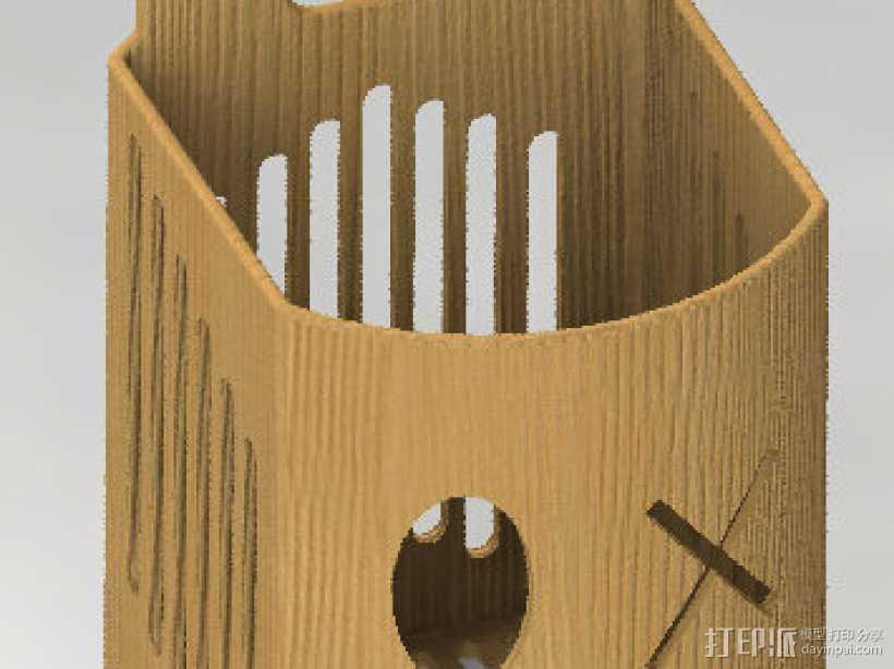 筷子盒 3D打印模型渲染图