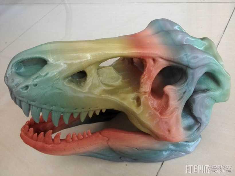 恐龙头骨 3D打印模型渲染图
