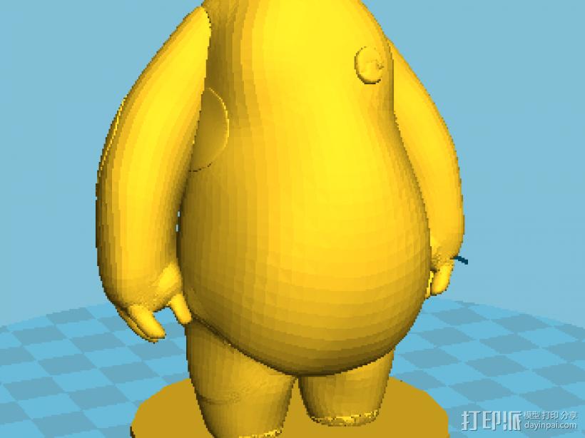 大白Bigbay 3D打印模型渲染图
