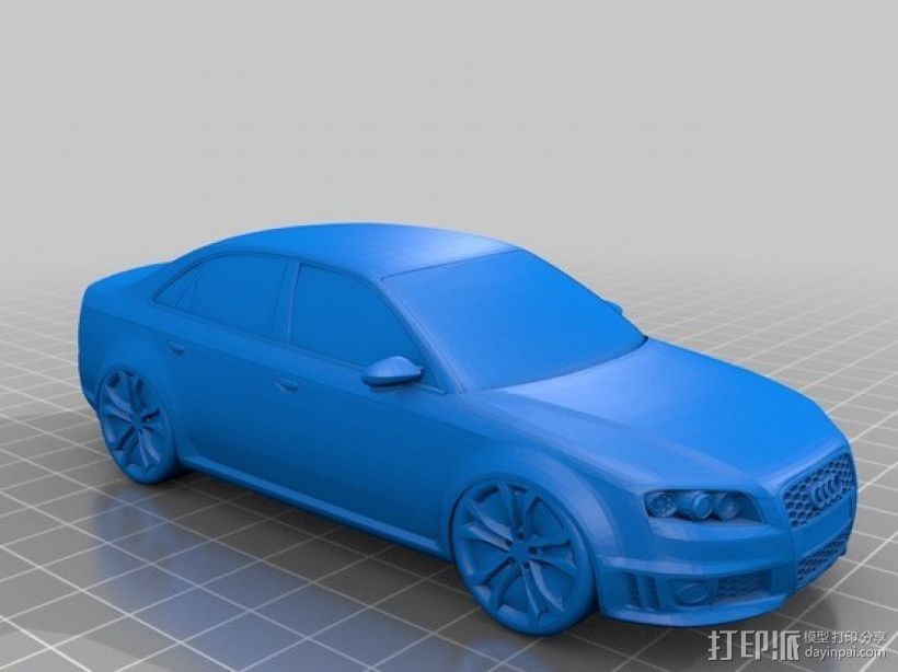 奥迪 3D打印模型渲染图