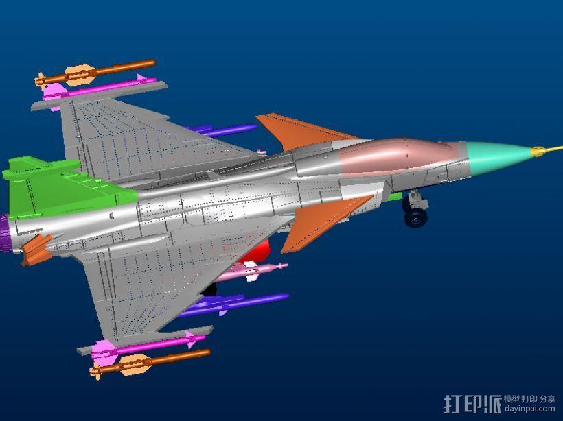 世界战机 3D打印模型渲染图