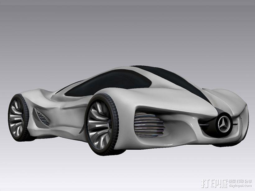 奔驰概念跑车 3D打印模型渲染图