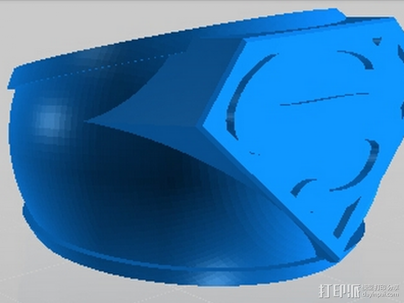 超人戒指 3D打印模型渲染图