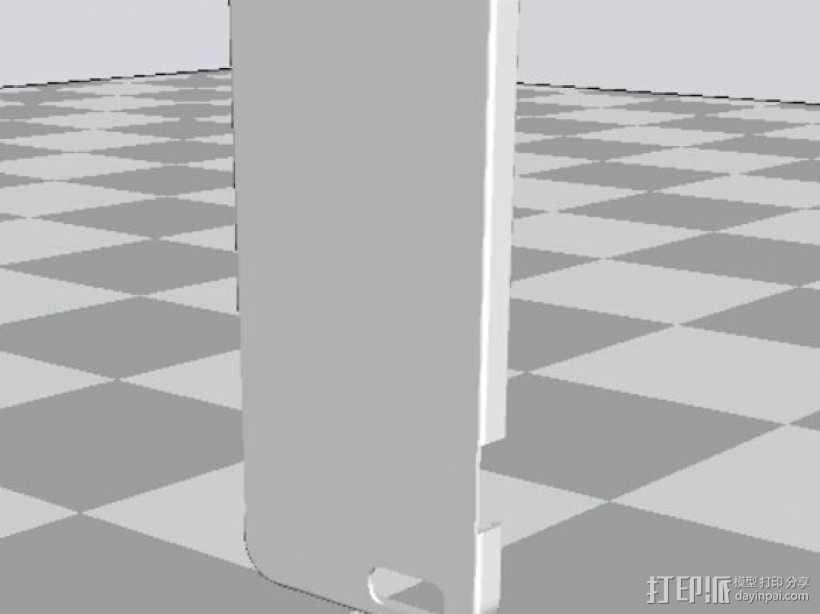 iPhone+6+手机壳.stl 3D打印模型渲染图