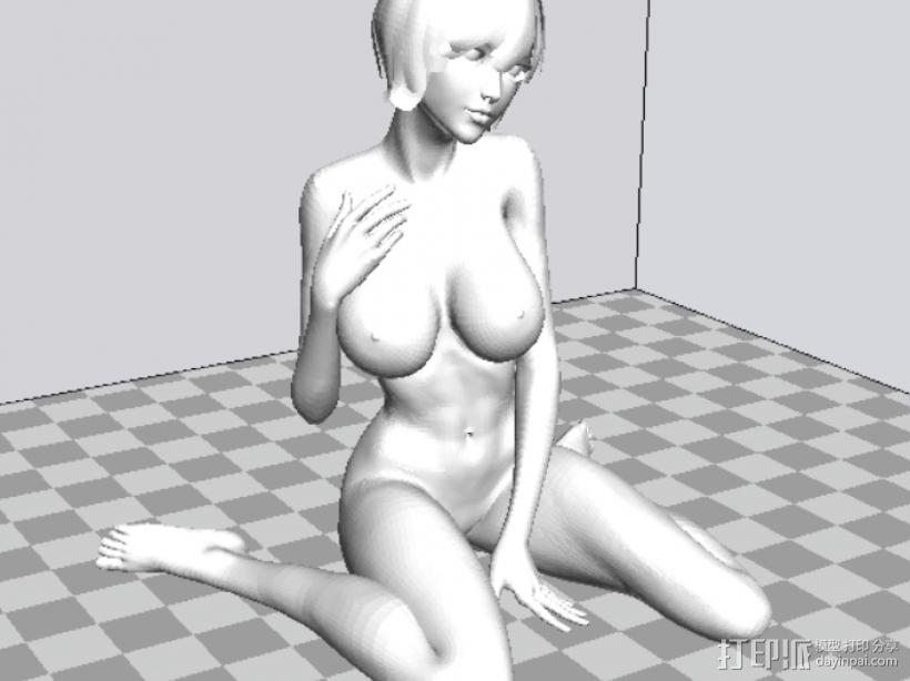 裸女 3D打印模型渲染图
