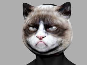愤怒猫面具