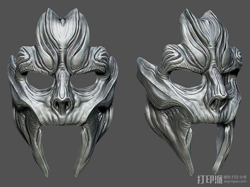 骷髅王面具 3D打印模型渲染图