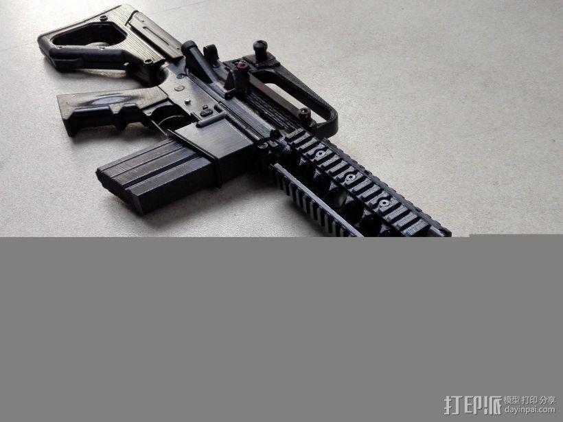 M4A1 3D打印模型渲染图