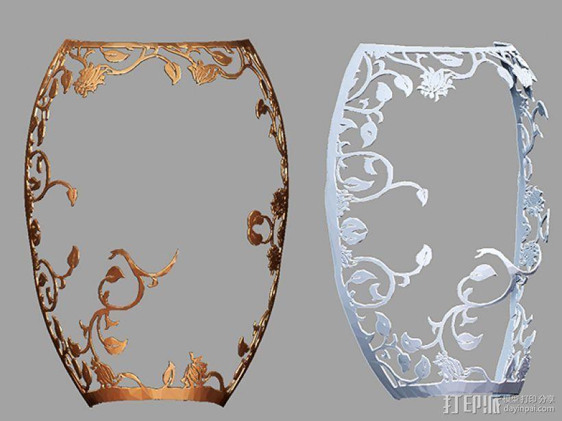 镂空花纹面具。 3D打印模型渲染图