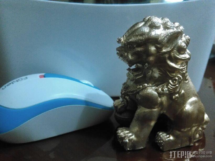 中国看门狮子 3D打印模型渲染图