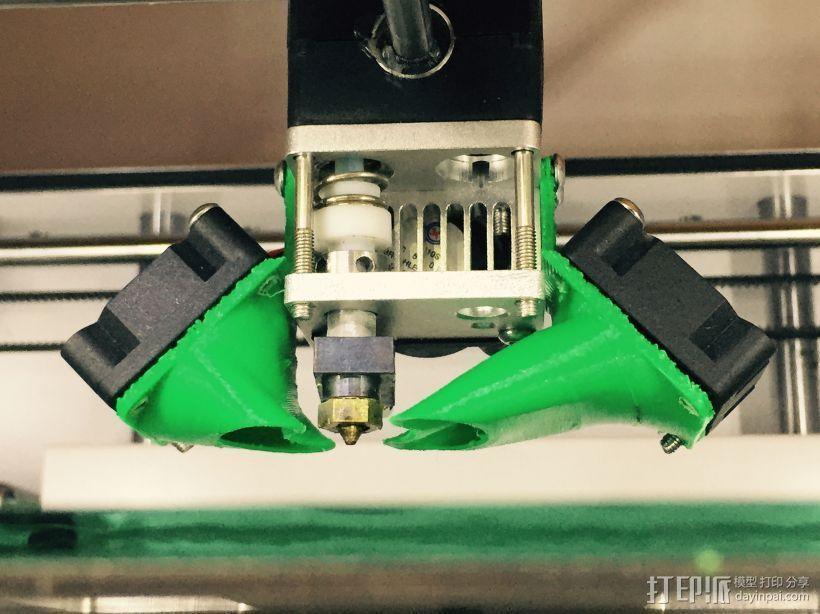UM2风扇风道 强制冷却 3D打印模型渲染图