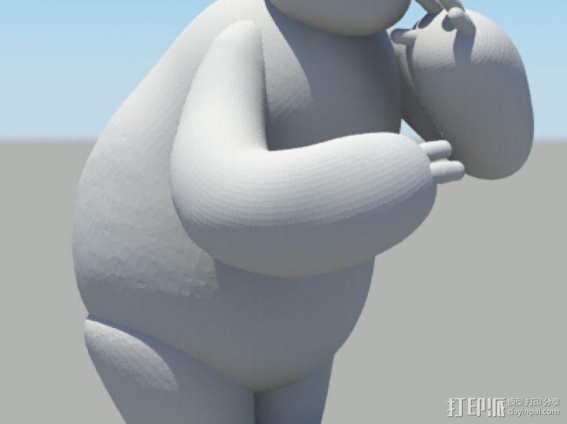 大白 baymax - 拥抱 3D打印模型渲染图