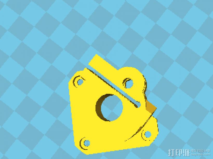 k800改良挤出机 3D打印模型渲染图