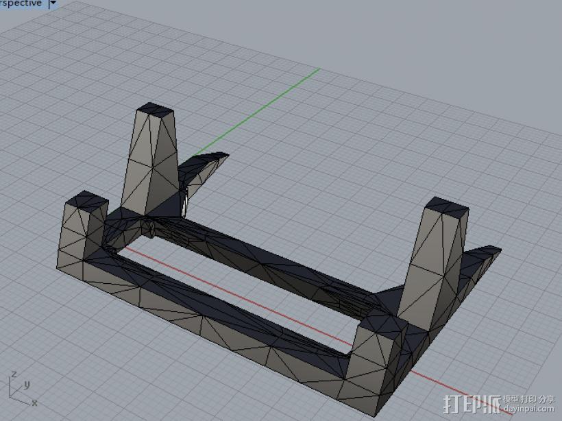 手机架子 3D打印模型渲染图