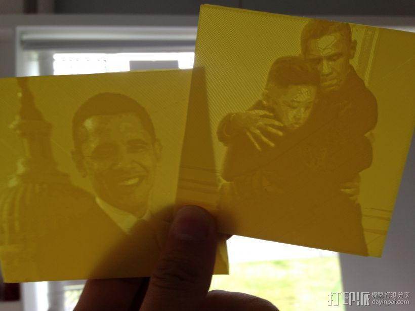 奥巴马金正恩之恋 3D打印模型渲染图