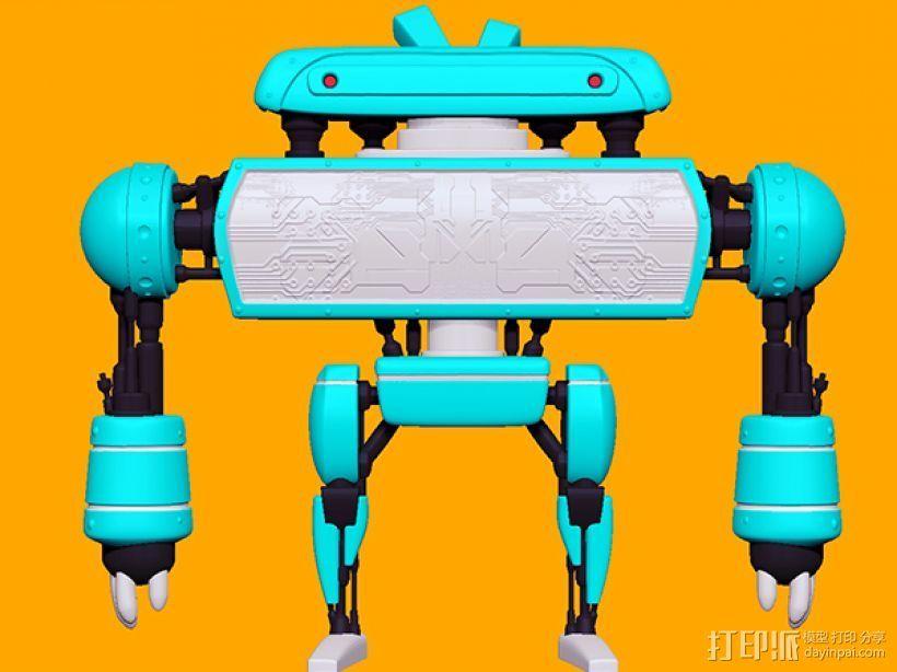 卡通机器人B 3D打印模型渲染图
