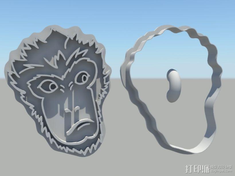 大圣归来 孙悟空 齐天大圣 饼干模具 3D打印模型渲染图