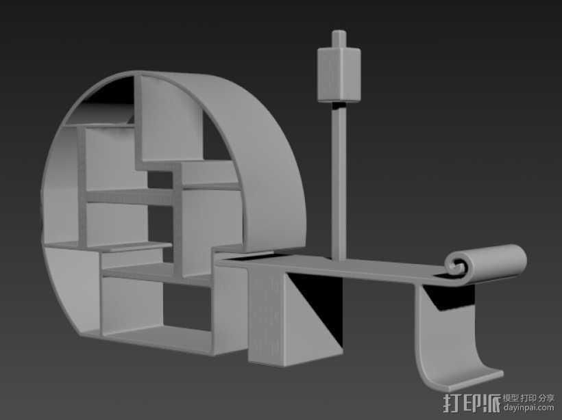 古典家具 3D打印模型渲染图