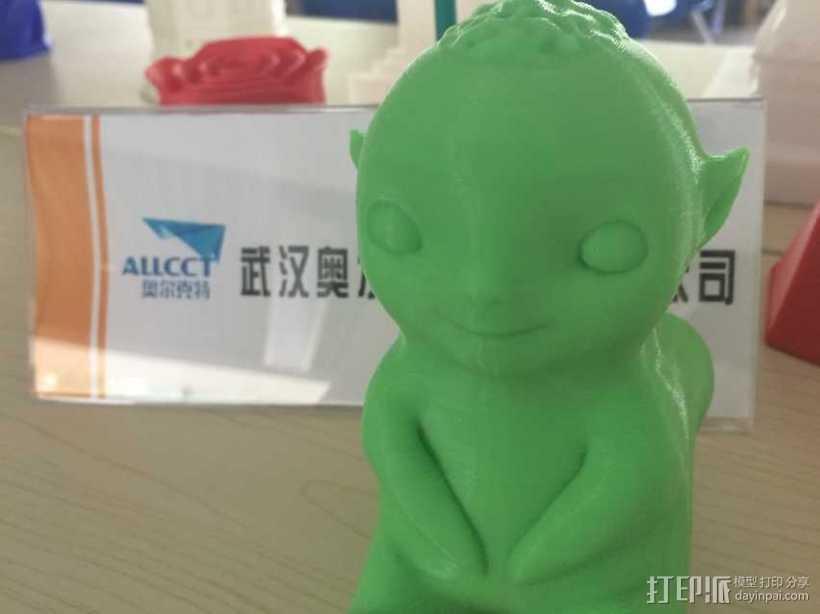 《捉妖记》小妖王胡巴 3D打印模型渲染图