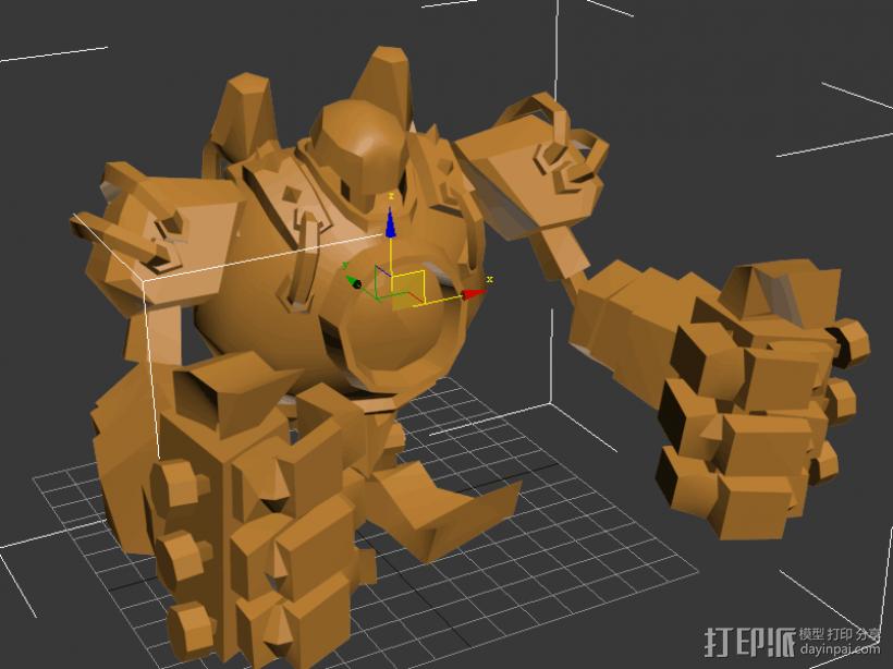 蒸汽机器人 3D打印模型渲染图