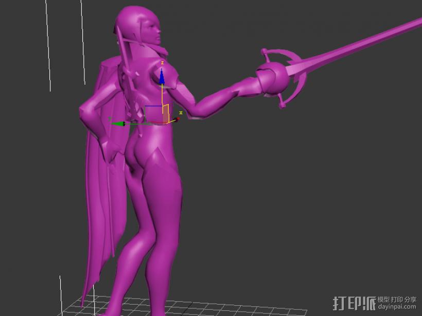 无双剑姬 3D打印模型渲染图