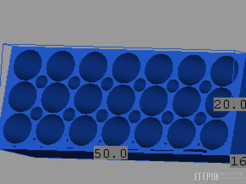 测试模型 3D打印模型渲染图