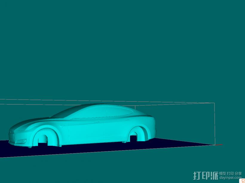 特斯拉模型上壳 3D打印模型渲染图