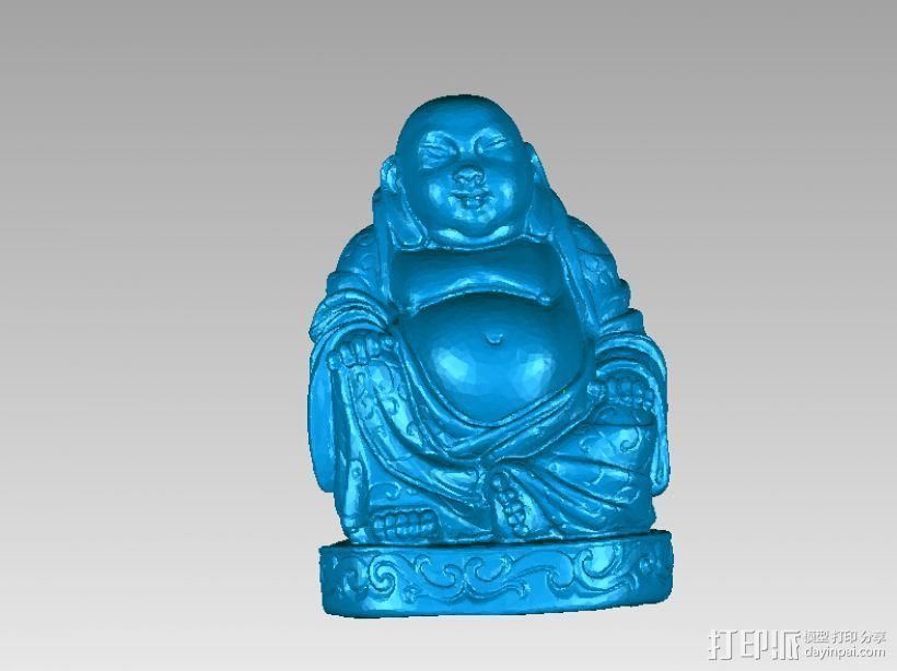 弥勒佛 3D打印模型渲染图